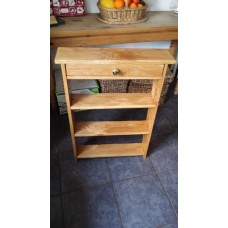 Small book case with draw white oak