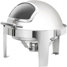 Round Chafing Dish Roll Top Lid