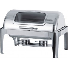 Oblong Chafing Dish Roll Top Lid